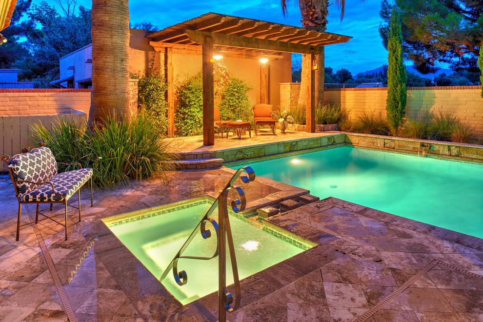 Pool - mid-sized mediterranean pool idea in Austin