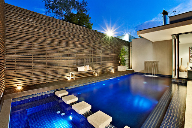 Ddb design exteriors pools contemporary pool for Small pools melbourne