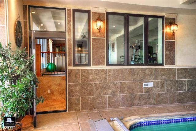 Deck Patio Indoor Pool In Ogden Utah Traditional