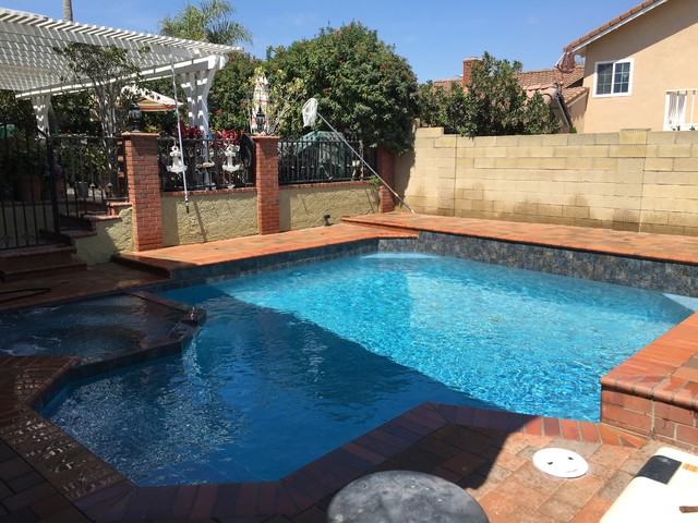Deleon Job After Photo Traditional Pool Orange County By Jsq Custom Pools