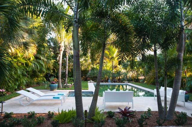 Delray Beach Cottage Tropical Pool Miami By Olga Adler