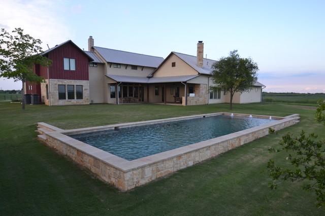 Denton County Farmhouse Pool Dallas By Mike Farley