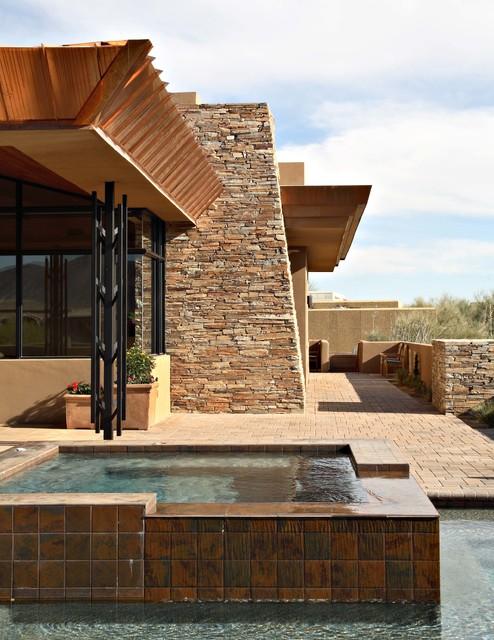 Desert Mountain Estate Contemporary Pool Phoenix