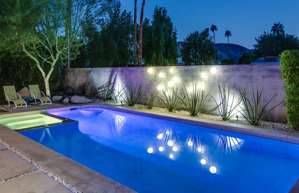 Mid-century modern pool photo in Los Angeles