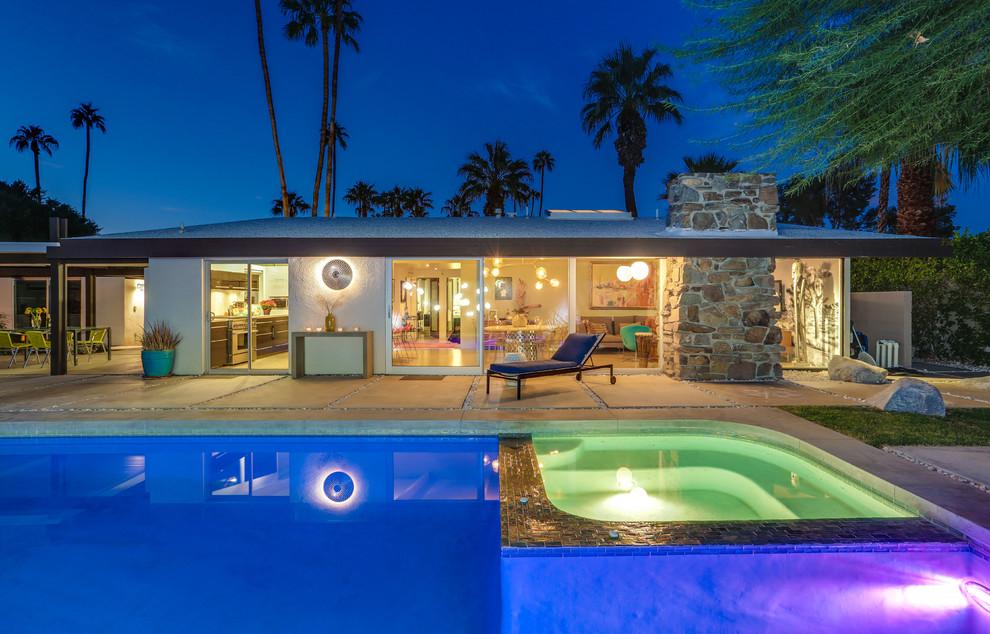 1960s pool photo in Los Angeles