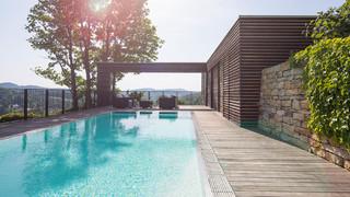 designer garten mit pool - modern - pool - other - by begrÜnder, Gartenarbeit ideen