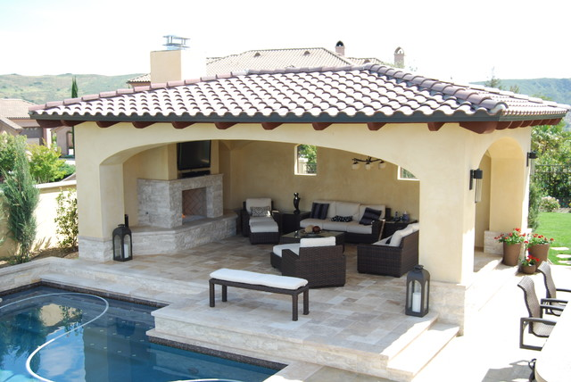 Detached Solid Roof Patio Covers Pool Los Angeles By