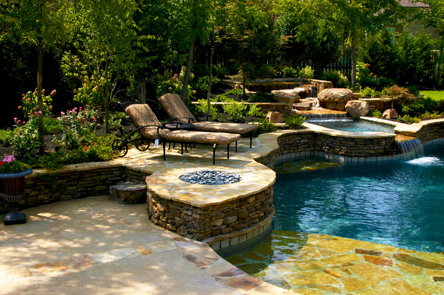 Devonshire Natural Pool Spa Design American Traditional Swimming Pool Nashville By J Brownlee Design