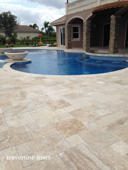 Diy 39 s vanilla ice project season 4 ivory swirl Flagstone pavers around pool