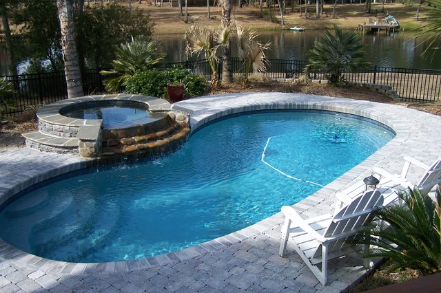 Does your living area extend to your backyard for Different swimming pool designs