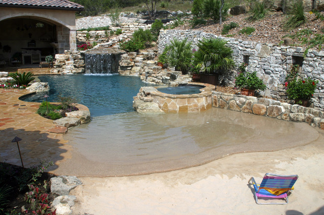 Double Beach Entry Pool Style Other By