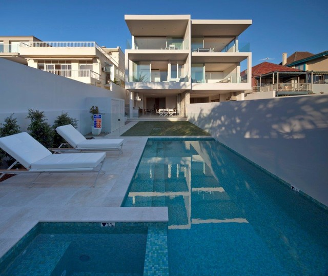Dover heights townhouses contemporary pool sydney
