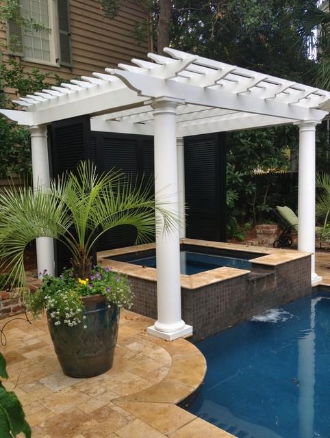 Downtown Charleston Pool Renovation traditional-pool