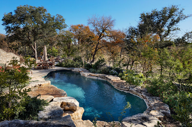 Driftwood estate rustic pool austin by matt sitra for Rustic pools