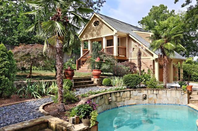 Pool - craftsman backyard pool idea in Atlanta