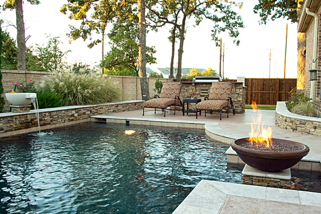 Dry stack custom swimming pool north richland hills for Rustic pools