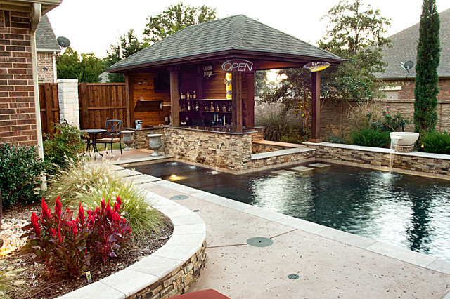 Dry Stack   Custom Swimming Pool   North Richland Hills, TX Rustic Pool