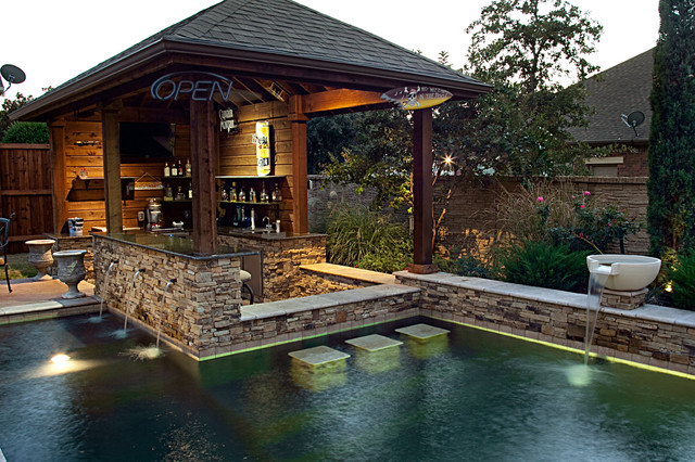 dry stack custom swimming pool north richland hills tx rustic pool