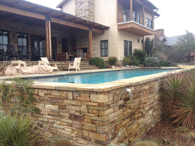 Dry Stack Ledge Stone Pool