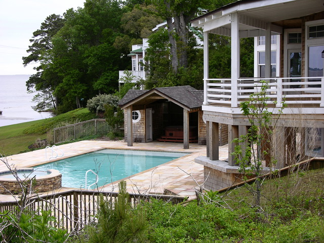 Duck nc victorian pool raleigh by florez design for Pool design raleigh nc