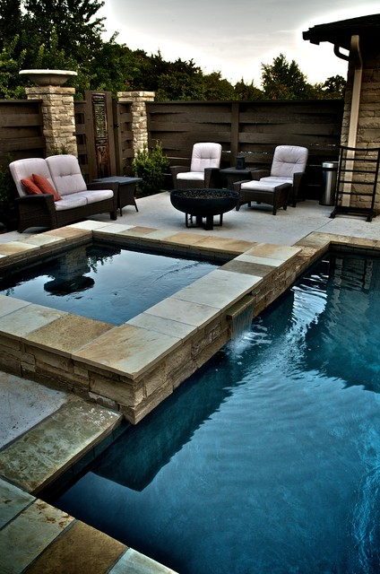 East edmond zen pool asian pool other metro by for Zen pool design