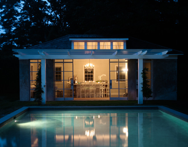East Hampton Pool House Contemporary Pools And Hot Tubs
