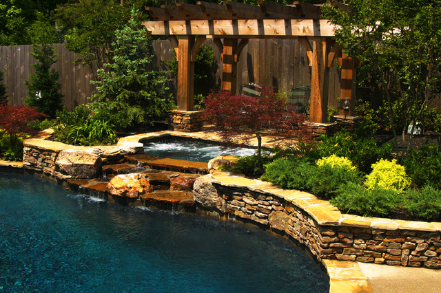 East Memphis Natural Pool, Spa, & Outdoor Living Design on Outdoor Living Pool And Spa id=81452