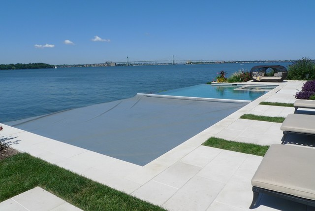 East River Ny Automatic Swimming Pool Cover Contemporary Pool Other Metro By Aquamatic