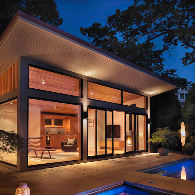 Eastern Point Pool Retreat - Modern - Garage And Shed - boston - by Flavin Architects