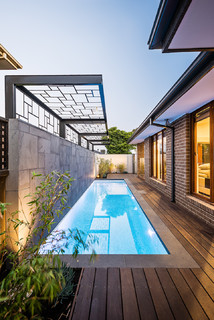 Easy Living Contemporary Pool Melbourne By Bayon Gardens