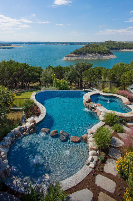 Eclectic lake house traditional pool austin by for Pool design utah
