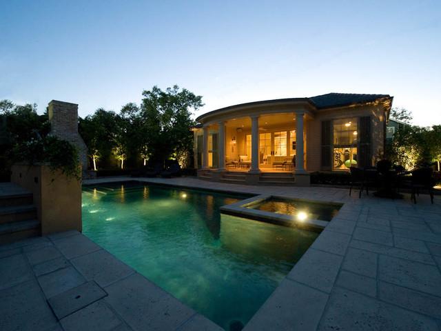 Elegant Backyard Escape mediterranean-pool
