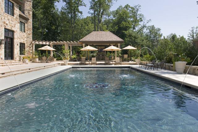 Elegant Backyards traditional-pool