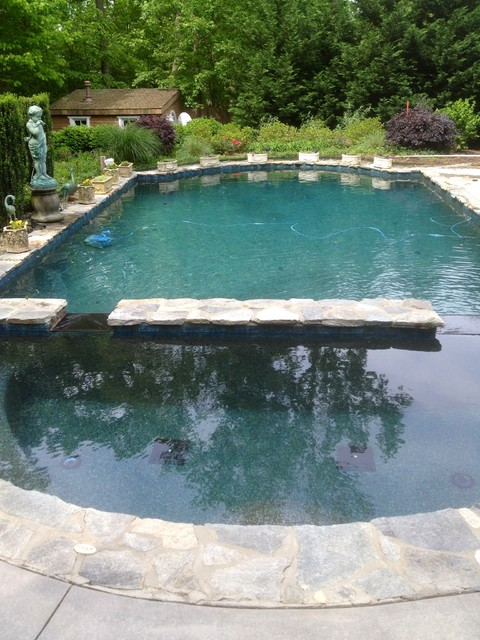 Elegant emerald bay pebble tec pool finish pool raleigh by vue custom pools for Pebble finishes for swimming pools