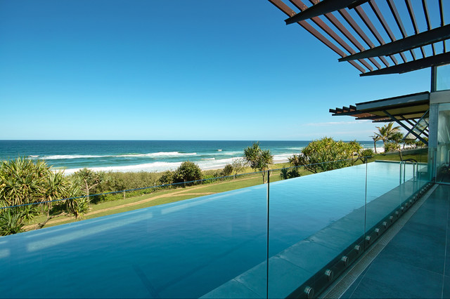 Elevated Pool elevated swiming - beach style - pool - brisbane -skale