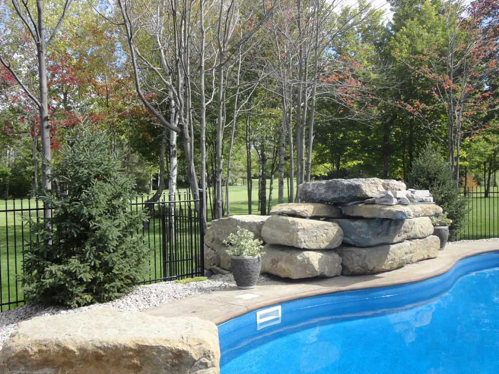 Inspiration for a transitional pool remodel in Ottawa