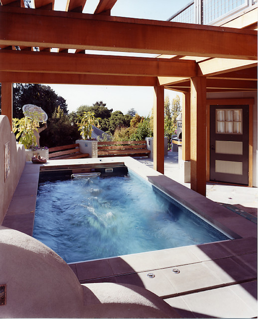 Endless pool pool san francisco by jetton for Swim spa in garage