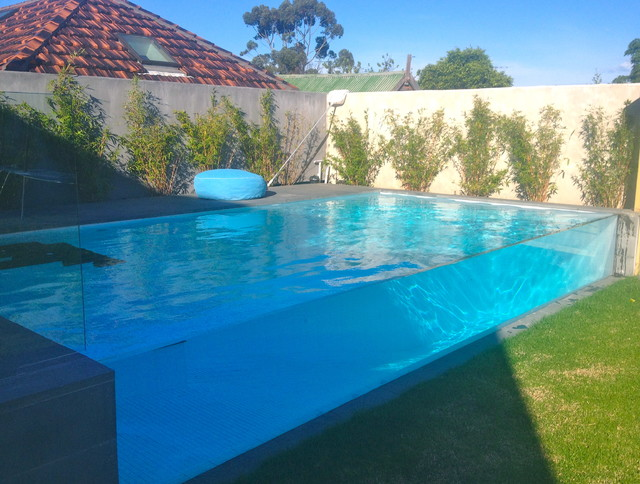 Essendon pool wall panel modern-pool