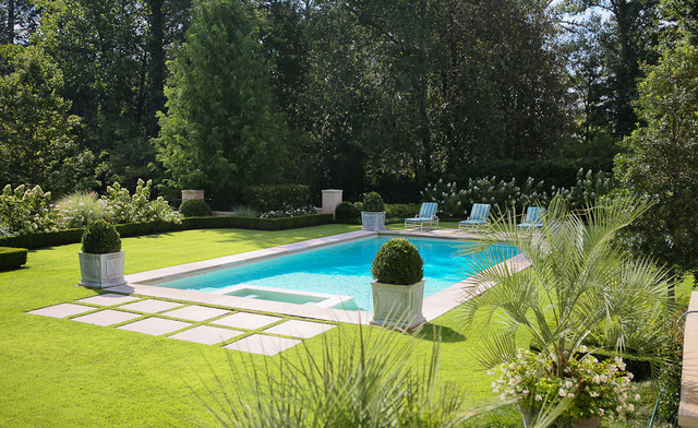 European classic traditional pool atlanta by land for Pool design houzz