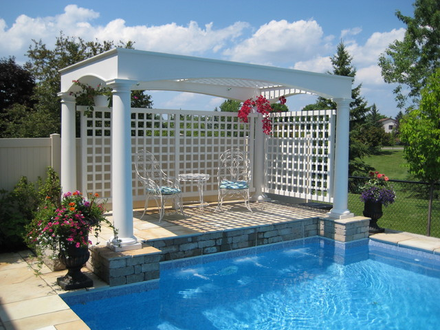 Exterior Columns Traditional Pool Ottawa By House