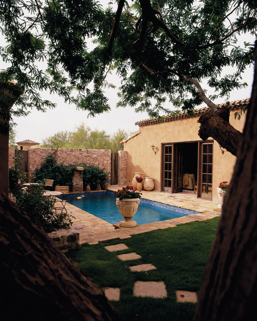 exterior spaces mediterranean-pool