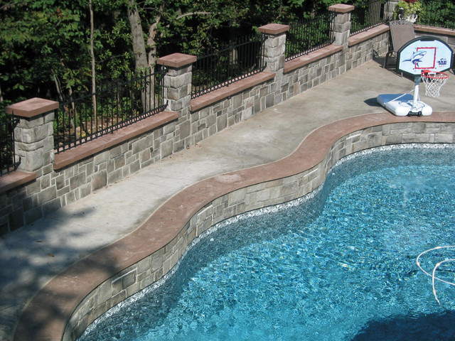 Exterior Stone Veneer - Traditional - Pool - other metro - by Stone Selex