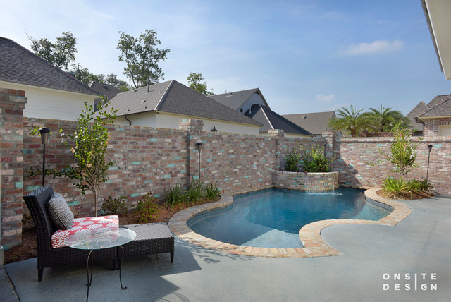 Exteriors pool new orleans by onsite design for Pool design new orleans