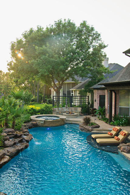 Family fun backyard traditional pool houston by for Pool design questions