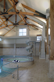 Family Recreation Building Indoor Pool Eclectic Pool