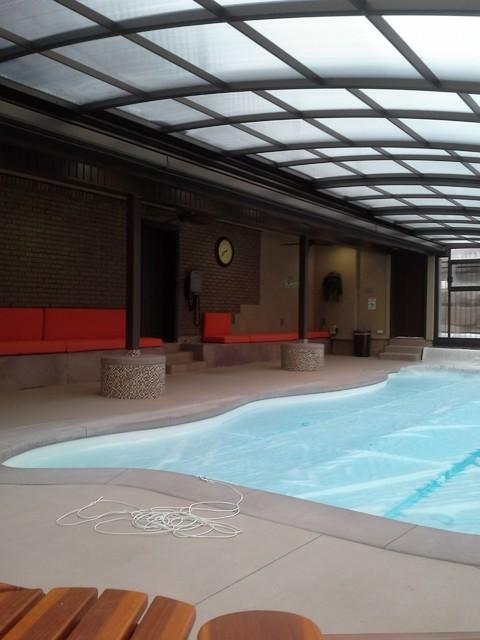 Farmington ut retractable lean to enclosure style design for Swimming pool design utah