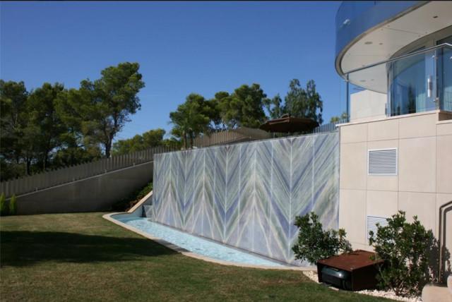 Fassade aus dem naturstein azul imperial modern pools - Naturstein pool ...