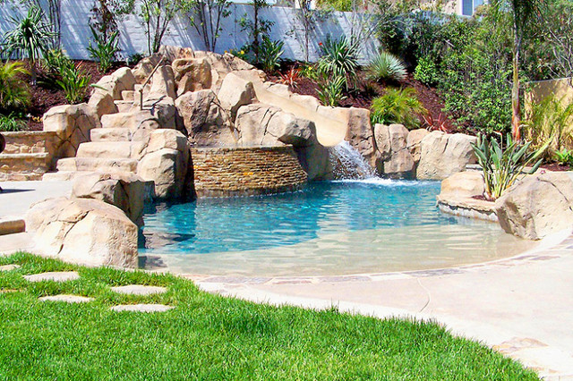Faux Rock Decorative Concrete Dallas Fort Worth Mediterranean Pool Dallas By Brick