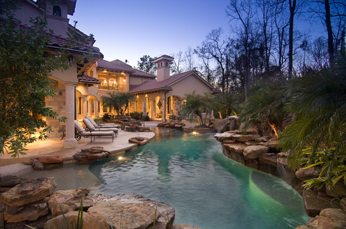 Classic style home april 2014 for Best looking pools