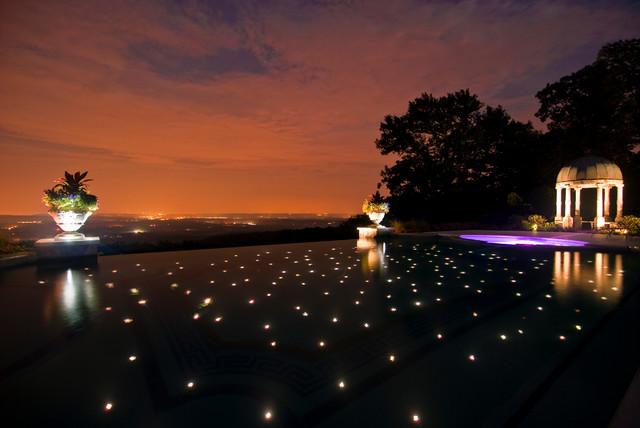 Fiber optic infinity edge swimming pool nj traditional for Outdoor pools in nj